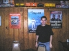Adam Poses in Front of Troutville\'s Earnhardt Shrine