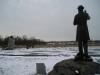 Gettysburg - Statue Overlooks Plains of Gettysburg