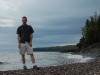 lake-superior-mike-on-the-edge-of-lake-superior