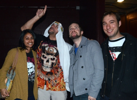 Sabu with Chitra, Mike, and Jacob