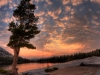 Cathedral-Lake-Sunset-with-Tree