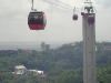 Cablecars Carry Passengers over the Island of Sentosa, Singapore