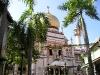 Singapore\'s Sultan Mosque through Trees