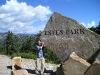 Rockies - Mike Holds Up Estes Park Sign