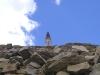 Rockies - Cagg Atop Wall of Rocks