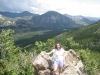 Rockies - Karen Poses Atop Mountain