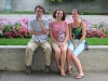 Salt Lake City - Mike, Karen, and Cagg in Mormon Square