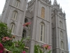 Salt Lake City - Temple Behind Flowers