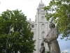 Salt Lake City - Temple Behind John Smith Statue